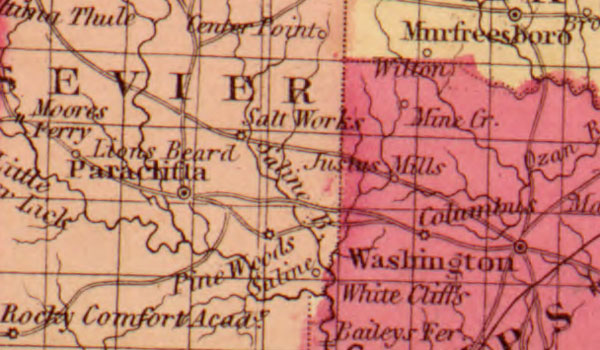 USA: Southern: Map: Arkansas, Mississippi and Louisiana State 1862 Historic Map Reprint