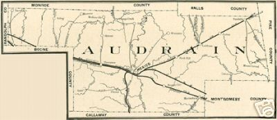 Audrain County Missouri Genealogy History Maps Including Mexico
