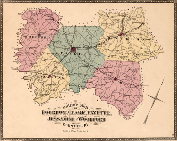 Bourbon, Clark, Fayette, Jessamine and Woodford Counties, Kentucky ...