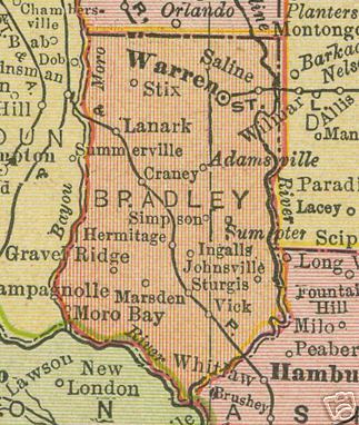 dley County Arkansas Genealogy, History, maps with Warren ... on