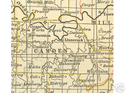 Camden County Missouri Genealogy History Maps With Linn