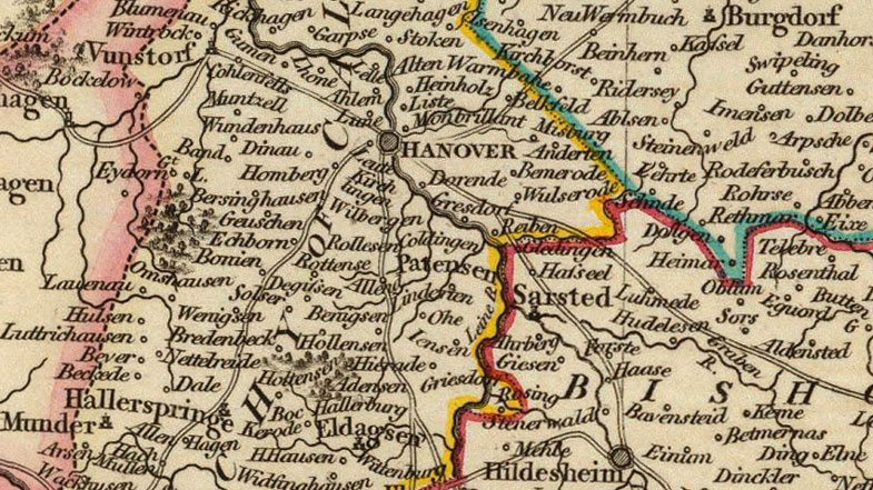 Lower Saxony Germany Map.Germany Circle Of Lower Saxony 1801 Cary Historic Map Reprint