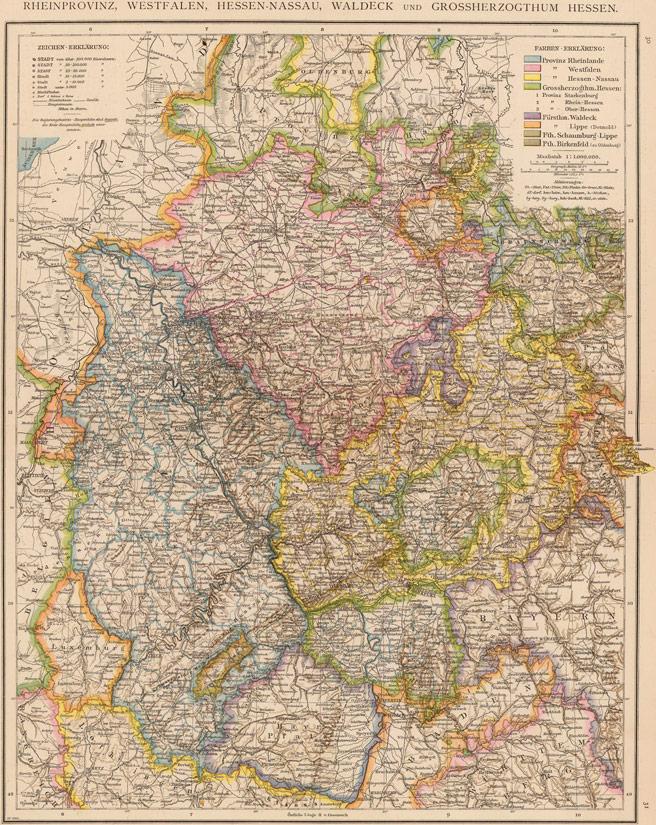 Germany Rhine Westphalia HesseNassau Waldeck and Hesse 1881