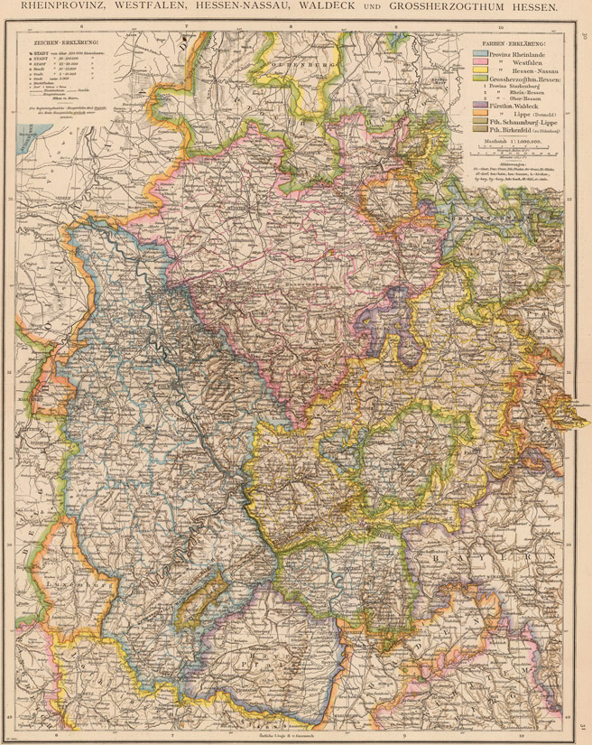Germany Rhine Westphalia HesseNassau Waldeck And Hesse - Hessen germany