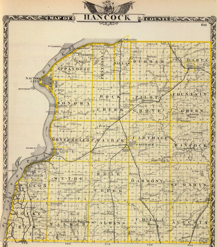 Han County, Illinois 1876 Historic Map Reprint on illinois highway map, skokie illinois map, missouri counties map, illinois town map, illinois tornado path, edelstein il map, illinois route map, illinois cities, illinois basin, illinois river, illinois indiana map, illinois counties, kentucky counties map, illinois climate map, illinois township map, illinois capital, wisconsin counties map, illinois zip codes, iowa illinois map, illinois on map,