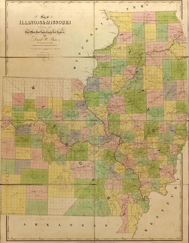 Missouri State Historic Map Burr American Atlas Reprint - Map of illinois and missouri