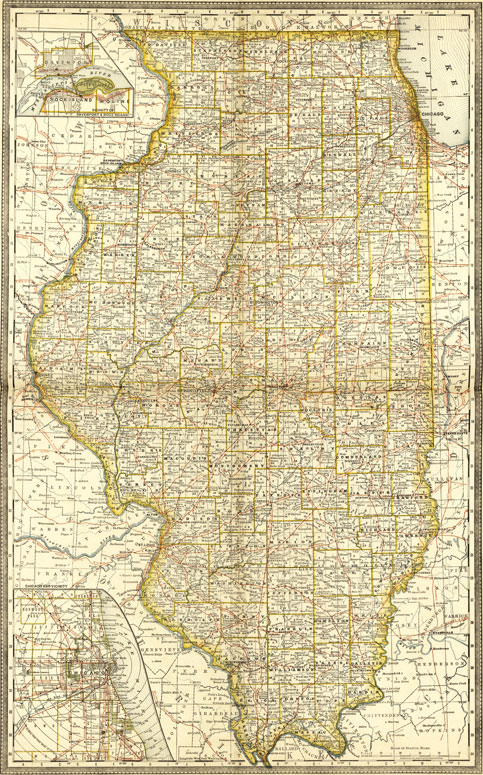 Illinois State 1881 Historic Map Rand McNally Reprint on map of all georgia cities, map of colorado and nebraska borders, map of indiana area, map tilden nebraska, map of montana, map of eastern wyoming,