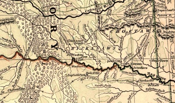 Map Of Northern Texas.Indian Territory Northern Texas And New Mexico 1844 Morse And