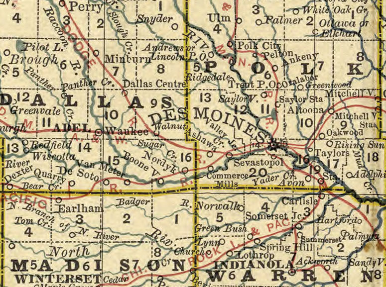 Iowa State 1881 By Rand Mcnally Historic Map Reprint
