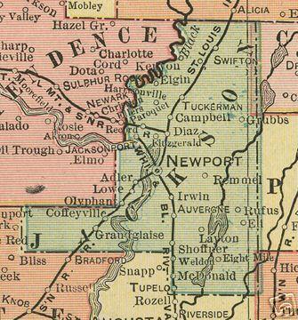 Jackson County Arkansas Genealogy History Maps With Newport - Arkansas land ownership maps