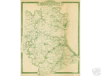 Jefferson County Missouri Genealogy, History, maps with New Hartford ...