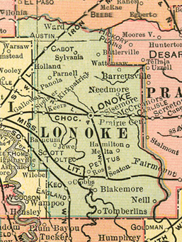Lonoke County Arkansas Genealogy History Maps With Lonoke - Arkansas county map