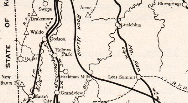 Jackson County Missouri 1904 Historical Map Reprint Roads