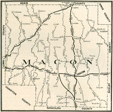 Macon County Missouri Genealogy, History, maps with Macon, La Plata
