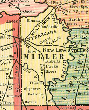 Miller County, Arkansas Genealogy, History, maps with ...