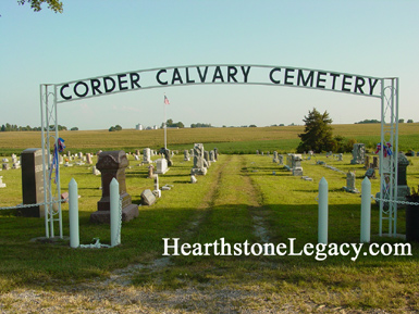 Corder Calvary Cemetery at Corder, Missouri in Lafayette County, MO 02