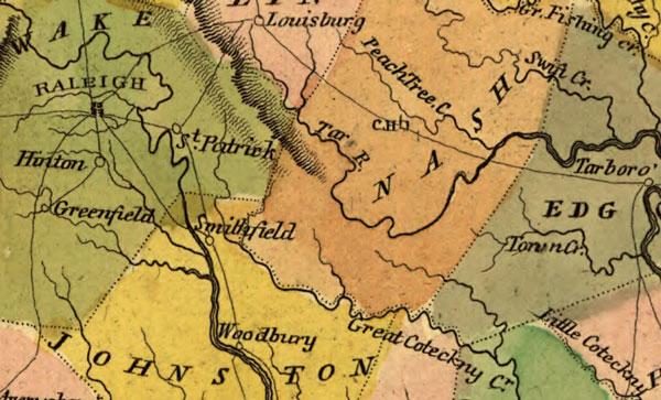 North Carolina State 1814 Carey Historic Map Reprint