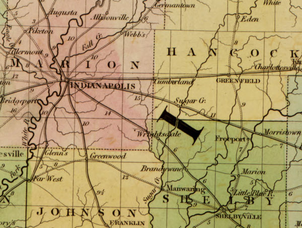 USA: Midwest: Map: Ohio and Indiana State 1839 Historic Map Reprint