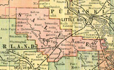 Saline County Arkansas Genealogy History Maps With Benton