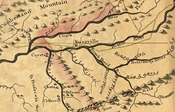 Tennessee State 1795 John Reid Historic Map Reprint