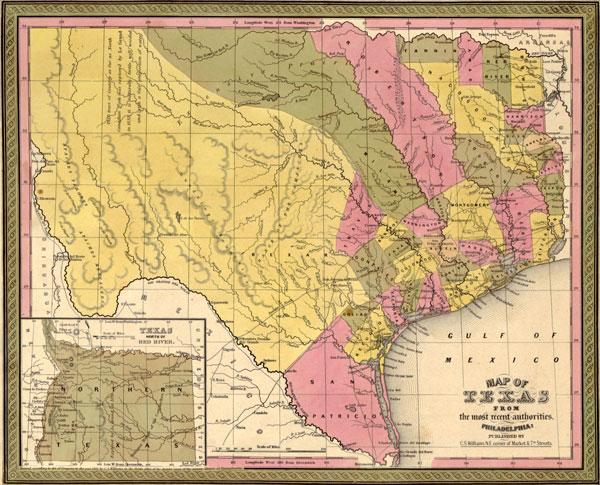Texas Map 1845
