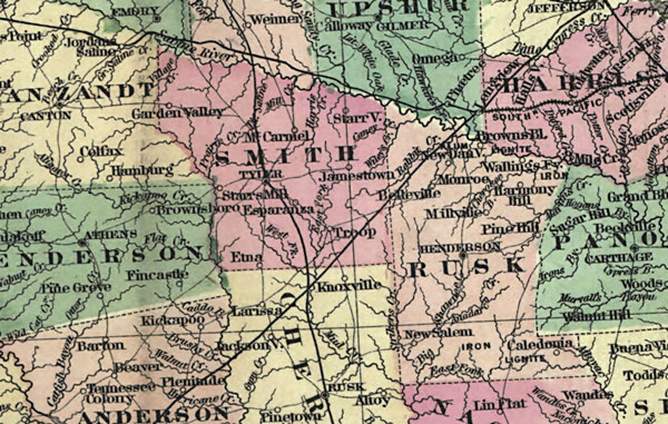 Detail Map Of Texas.Texas State 1872 Colton Historic Map Reprint
