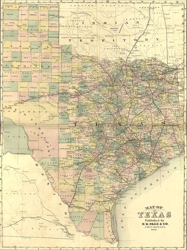 State H R Page Historic Map Reprint - Texas map state
