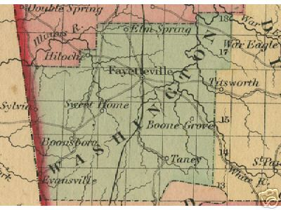 Washington County Arkansas Genealogy History Maps With - Washington counties map