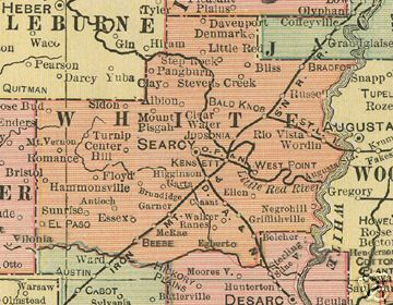 White County Arkansas Genealogy History Maps With Searcy Beebe - Arkansas county map