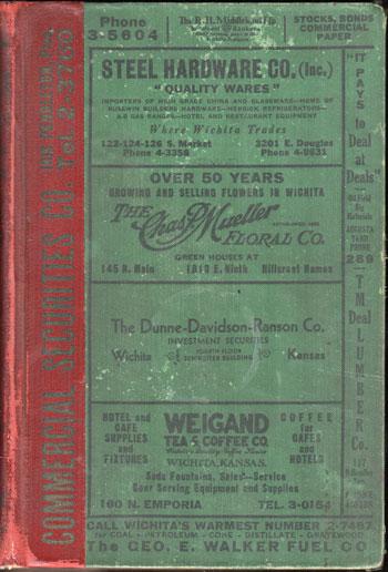 polk's wichita city directory, 1934, sedgwick county, kansas, book