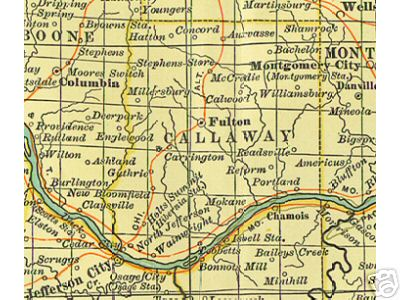 Callaway County Missouri Genealogy History Maps With Fulton