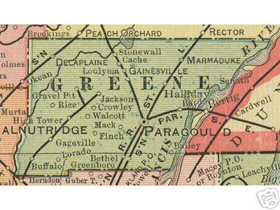 Greene County Arkansas Genealogy History Maps With Paragould