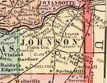 Johnson County Kansas Genealogy, History, maps with Olathe, Lenexa ...